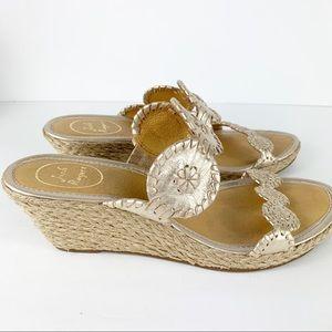 Jack Rogers Shelby Wedge Espadrille Slide Sandals